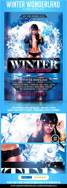 winter wonderland flyer template by grandelelo graphicriver winter wonderland flyer template clubs parties events