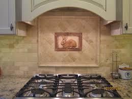 Kitchen Tile Backsplash Murals Kitchen Tiled Backsplash With Handcrafted Rabbit Tile As An
