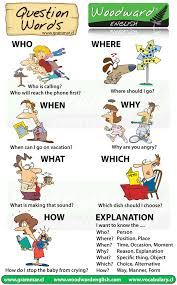 question words in english who when what why which where how question words in english