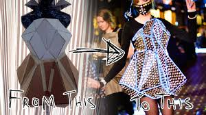 Making of Recycled <b>Fashion</b>: <b>Geometric</b> Reflection - YouTube