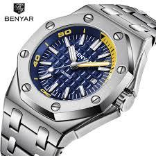 <b>New BENYAR</b> Fashion <b>Men</b> Watches <b>Male</b> Top Brand Luxury <b>Quartz</b> ...