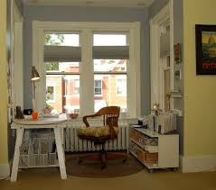 vintage office storage home office eclectic with bay window wood swivel chair white wood built office storage