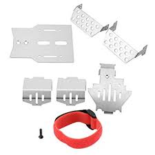 6 Pcs RC Chassis Armors <b>Set</b>, Stainless Steel Chassis Armors ...