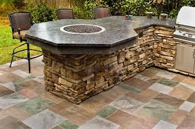 patio outdoor stone kitchen bar: kitchen outdoor layouts with granite table stone and