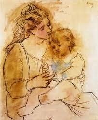 Resultado de imagen para madre e hijo picasso
