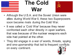 staar review  the cold war although the usa and the soviet  the cold war although the usa and the soviet union were allies during world war ii