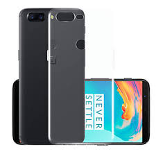 Case For OnePlus 5 Transparent Back Cover <b>Solid Colored</b> Soft ...