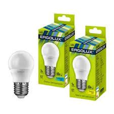 <b>Лампа светодиодная ERGOLUX LED</b>-<b>G45</b>-<b>7W</b>-<b>E27</b>-3K - «Тёплый ...