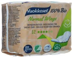Купить <b>Vuokkoset прокладки</b> Normal Wings 100% Bio 12 шт. по ...