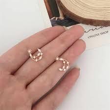<b>2019 new</b> design brand hollow star month small <b>earrings</b> simple ...