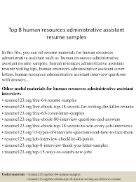 top  human resources administrative assistant resume samplestop  human resources administrative assistant resume samples in this file  you can ref resume
