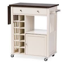 leaf kitchen cart: wholesale interiors baxton studio justin solid wood kitchen cart with dark oak drop leaf top and