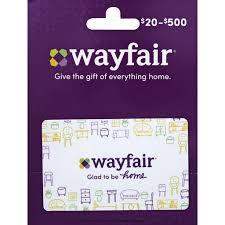 Wayfair Gift Card, $20-$500 | Gift Cards | Riesbeck