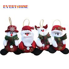<b>4pcs Merry Christmas</b> Red <b>Santa</b> Pendant Christmas Tree Hanging ...