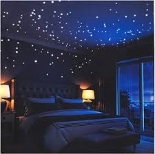 Glow in The Dark Stars Wall Stickers,252 Adhesive Dots and <b>Moon</b> ...
