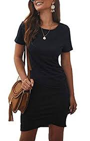 BTFBM Women's <b>2019</b> Casual Crew Neck Ruched Stretchy ...