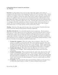 critical essay review example