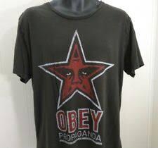 Твердый обычный размер xl <b>OBEY футболки</b> для мужчин с ...