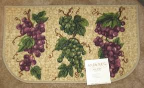 grapes grape themed kitchen rug: grape trio grapes tuscan tuscany kitchen mat slice accent rug  x
