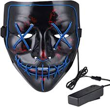Anroll Halloween Mask LED Light Up Mask for ... - Amazon.com