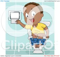 clipart of a black potty training toddler boy using a toilet clipart of a black potty training toddler boy using a toilet royalty vector illustration by bnp design studio
