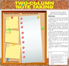 best images of two column note taking format note taking two column note taking