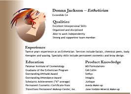 cosmetologist esthetician resume template   sample cosmetology    esthetician resume sample