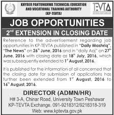jobs in kpk technical education amp vocational training authority  jobs in kpk technical education amp vocational training authority kptevta