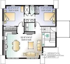 House plan W detail from DrummondHousePlans com    nd level Garage apartment house plan   bedrooms  open floor plan and balcony