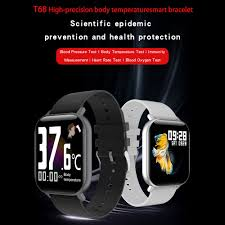 <b>T68 Smartwatch</b> Real-Time Temperature Monitoring Smart Bracelet ...