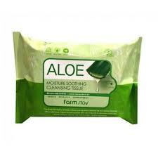 очищающие увлажняющие салфетки с экстрактом алоэ farmstay ...