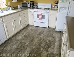 Hardwood Or Tile In Kitchen Restoration Beauty Faux Wood Tile Flooring In The Kitchen