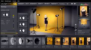 simulate lighting in a virtual photo studio with set a light d studio