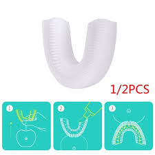 U-shape Silicone Toothbrush Head <b>High Quality Silica Gel</b> Head ...
