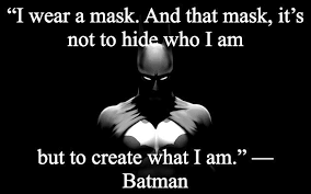 i wear a mask and that mask its not to hide who i am but to create ... via Relatably.com