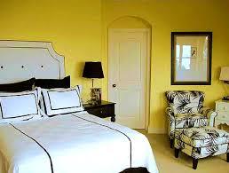 black white yellow bedroom
