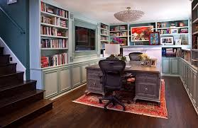 view in gallery transitional basement home office that is a real showstopper basement office design