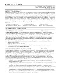 human resources resume example sample sample hr recruiter cover letter