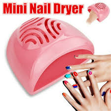 New Portable Nail Dryer Fan <b>Mini Nail Art Air</b> Dryer Polish Manicure ...