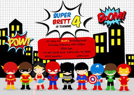 superhero party invitation template ctsfashion com superhero birthday invitations templates