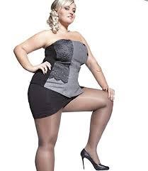 <b>PLUS SIZE</b> Beige Black SHEER TIGHTS for Curvy Women 20 ...