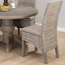 grey wicker dining chairs nice burnt grey rattan linen polyester fabric dining chairs heavy duty