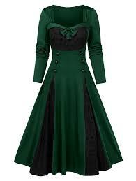 <b>Halloween Skull Lace</b> Insert Long Sleeve Mock Button Dress in ...