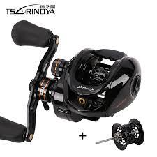 TSURINOYA HE 150 R/L Bait Casting <b>Fishing Reel Double</b> Spool ...