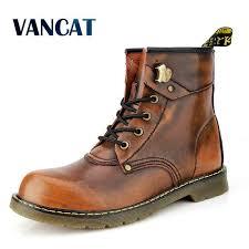 Vancat Brand Cowhide Split Autumn Winter Warm Fur Vintage ...