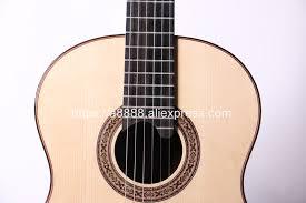 Professional Handmade <b>39 inch Full</b> Solid Acoustic Classical guitar ...