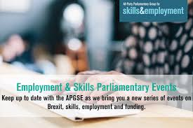 welcome all party parliamentary group for skills employment apgse events programme