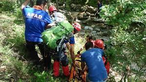 Bursa'da kayalıklardan düşen adam 2 saatte kurtarıldı