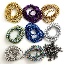 Wholesale <b>Bicone</b> Faceted 5301# Crystal Glass Loose Spacer ...