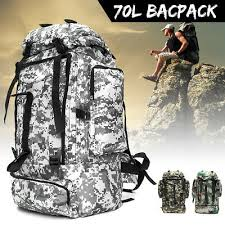<b>70L</b> Waterproof <b>Sports Tactical</b> Camping Hiking <b>Backpack Bag</b> ...